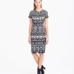 J. Crew Blurred Ikat Wrap Dress